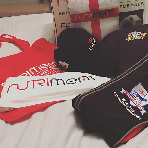 Nutriment Sponsoring Team England at World Agility Open Championships